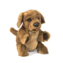 brown puppy puppet