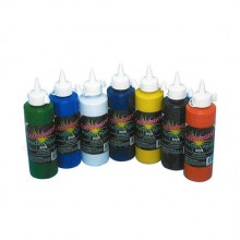 POSTER PAINT 250 (BLACK, BLUE, BROWN, GREEN, ORANGE, PURPLE, RED, WHITE YELLOW)