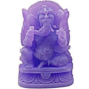Beautiful frosted purple image of Ganesha, the remover of obstacles