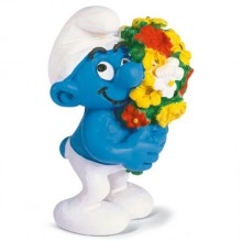 smurf with flowers