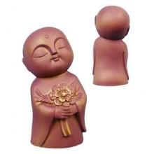 Jizo holding flowers (Bronze)